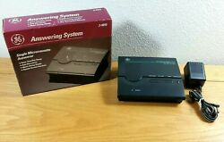 Ge Model 2-9815 Microcassette Tape Answering System Machine Untested Sold As Is
