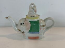 Vintage Ceramic Asian Chinese Figural Elephant Collectible Teapot