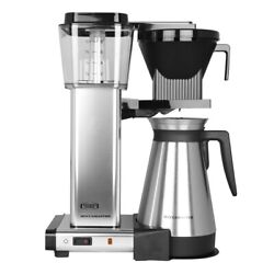 New Technivorm Moccamaster Kbgt Thermal Carafe Polished Silver Coffee Brewer