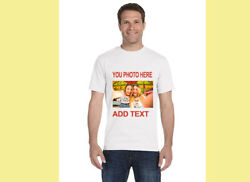 T-Shirt Custom Your Photo Text Logo Printing Dtg Personalized CUSTOMIZED Shirts! $11.50