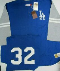 Sandy Koufax Dodgers Mitchell And Ness 3/4 Plus Size Sleeve Jersey