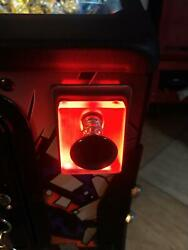 Red Lighted Shooter Rod Plate Cover Stern Jurassic Park Pinball Machine Led Mod