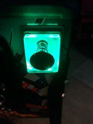 Green Lighted Shooter Rod Plate Cover For Jurassic Park Pinball Machine Led Mod