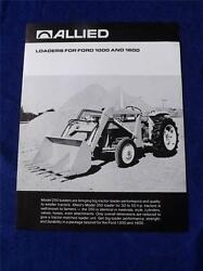 Allied Loaders For Ford 1000 And 1600 Sales Brochure Tractors Farm Machinery