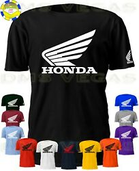 Honda Racing Motorcycle ATV Wing Logo Tee T-Shirt Men Unisex S-5XL Auto Parts $14.99