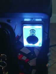 White Lighted Shooter Rod Plate Cover Data East The Simpsons Pinball Led Mod