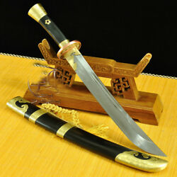Kung-fu Broadsword Qing Swords 清刀 Clay Tempered Folded Steel Blade Sharp 1564