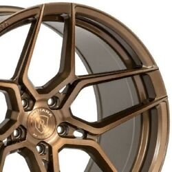 4 19x8.5 19x11 Staggered Rohana Wheels Rfx11 Brushed Bronze Concave A4