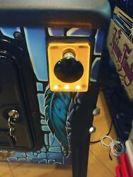 Orange Lighted Shooter Rod Plate Cover For Avatar Pinball Machine Led Mod
