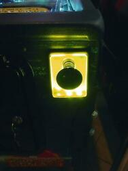 Yellow Lighted Shooter Rod Plate Cover Avatar Pinball Machine Led Mod