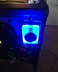 Blue Lighted Shooter Rod Plate Data East The Simpsons Pinball Machine Led Mod