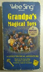 Wee Sing Presents Grandpaand039s Magical Toys - Childrenand039s Musical Vhs - Damaged Box