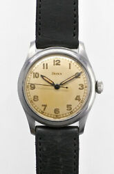 Doxa Arabic Numeral Index Cal. 112/1 014 Manual Vintage Watch 1950and039s Overhauled