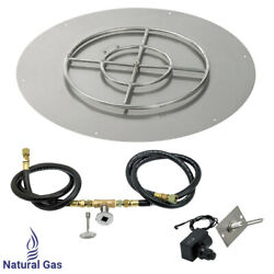 American Fireglass 30 Round Flat Fire Pit Kit With Spark Ignition Natural Gas