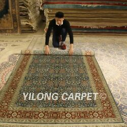 Yilong 5'x8' All Over Handmade Silk Area Rug Antique Hand Knotted Carpets 013b