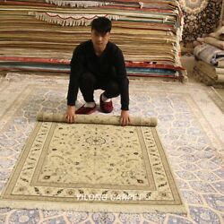 Clearance Yilong 4and039x6and039 Handcraft Wool Home Decor Rugs Hand-knotted Carpets 2106