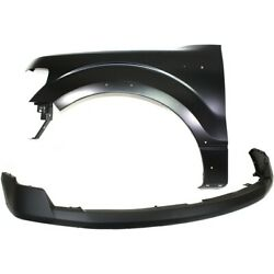 Bumper Cover Kit For 2009-2014 Ford F-150 Front Fits Wheel Opening Moldings