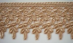 5 YARDS 3 1 4 INCH WIDE GOLDEN BEIGE VENICE LACE $11.99
