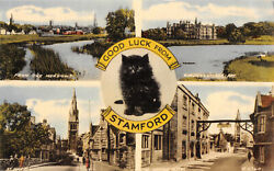R305792 Good Luck From Stamford. From The Meadows. The George Hotel. St. Mary Hi