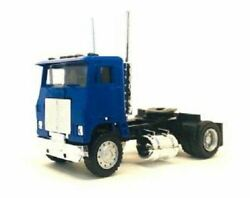 Ho 187 Promotex 25236 White Commander Day Cab Single Axle Tractor - Blue