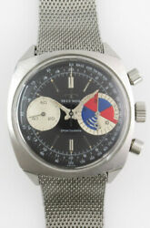 Technos Sportsgraph Landeron248 Manual Vintage Watch 1970and039s Overhauled