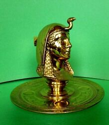 Egyptian Revival Cast Bronze Ink Stand French Neo Classic Circa 1900-1920
