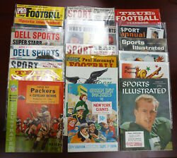 Huge Collection Of Vintage Green Bay Packers Stuff 22 Programs And Periodicals