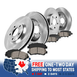 Front+rear Brake Rotors And Ceramic Pads For 2004 2005 2006 - 2008 Acura Tl Tls