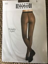 New Wolford Black Black Trinity Tights Size Small