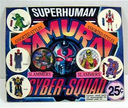 Samurai Syber Squad Pogs And Slammers Old Gumball Vend Machine Display Card 112