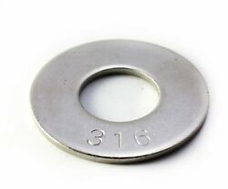 Flat Washer 316 Stainless Steel Choose Size 10 1/4 5/16 3/8 1/2