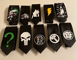 Superheroes Package Of 10 Neckties Amazing Collection, Thanos, Batman,etc...