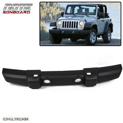 Front Bumper Cover Fit For 07-18 Jeep Wrangler Jk W/ Fog Lamp Holes Textured