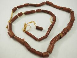 Prehistoric New Mexico Pueblo Mimbres Pipestone Beads 52 Total 7mm To13mm