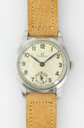 Omega Small Second Cal.26.5 S0b Manual Winding Vintage Watch 1937and039s Overhauled