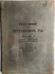 G M Hopkins / Plat-book Of The City Of Pittsburgh Vol 7 Comprising South Sie