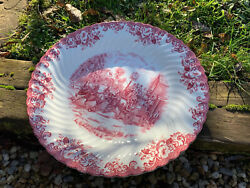 Grand Plat Rond Creuxcoaching Scenes Service Johnson Brother Porcelaine Anglaise