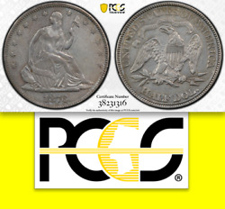 1876 Pcgs Xf Large/small Date 20000 For Ms61 ✅ Pop 1/4 Seated Half Dollar 50c