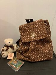 The Loyal Order Friends Of Boyds Teddy Bears Collectible Backpack W/bear And Pin