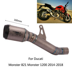 For Ducati Monster 821 1200 2014-2018 Exhaust Pipe No Db Killer Motorcycle Pipes