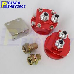 Male An10 Oil Filter Relocation Sandwich Fuel Fitting Adapter M16x3/4 M20x1.5 Rd