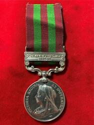 Great Britain India Service Silver Medal With Punjar Frontier 1897-98 Clasp