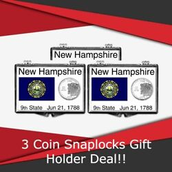 Coin Snaplocks New Hampshire State Flag Holder Quarters Storage Deal Of 3 Gift