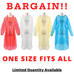 10PCS DISPOSABLE PONCHO EMERGENCY WATERPROOF RAIN COAT SUIT HIKING OUTDOOR GEAR