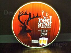 New Red Stag Jim Beam Beer Man Cave Led Neon Sign 14 Light Lamp Decor Bar