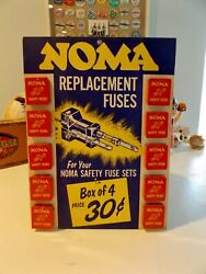 Vintage 1940's / 50's Country Store Noma Christmas Lights Counter / Wall Display