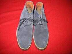 Wolverine Menand039s Custom Order Suede Desert Boots Size 9.5 Color Navy Used