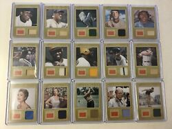 2012 Panini Golden Age Museum Age Lot X 15 Mlb Pga Hollywood Historic Collection