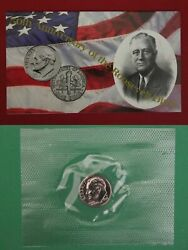 1996 W Roosevelt Dime In Mint Cello With Coa Free Shipping