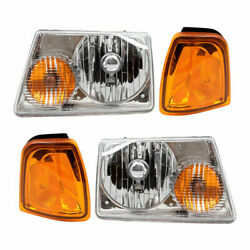 Fit For Fd Ranger 2001 2002 2003 2004 2005 Headlight And Corner Lamp Right And Left